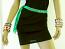 Green Sparkle Tie Up Belt