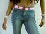 Webbing belt,baby pink with cartoon buckle