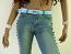 Webbing belt,baby blue with flower buckle