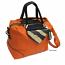 Handbag Orange with Animal Print