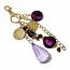 Swarovski Crystal Charm - Purple