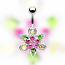 Navel Pave Flower