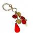 Handbag Crystal Charm - Red