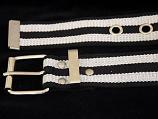 Canvas Eyelet with Black & White Stripe