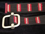 Black Belt with Red & White Stripes