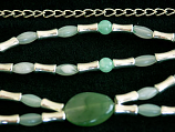 Chain Belt with Jade Stones