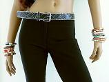 Black Glitter Thin Belt