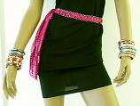 Pink Sparkle Tie Up Belt