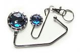 Handbag Hook & Key set - Black