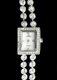 Double Rhinestone Style Watch