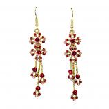 Drop Earrings-Red