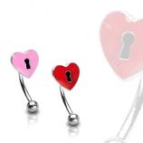 Brow Heart Lock