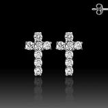 Silver Cross Studs
