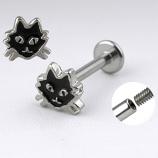 Silver Black Cat