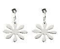 Pewter Flower Earrings